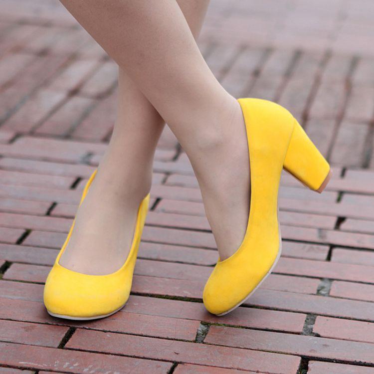 Zapatos Amarillo Limón