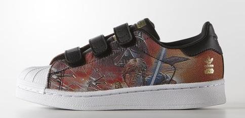 Zapatillas Adidas niño Darth Vader y Han Solo